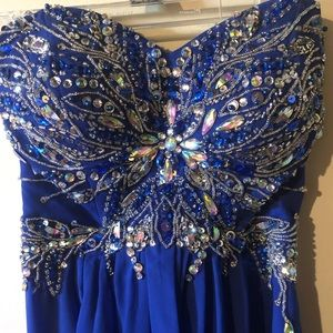 Beautiful Strapless, Jeweled Prom Dress